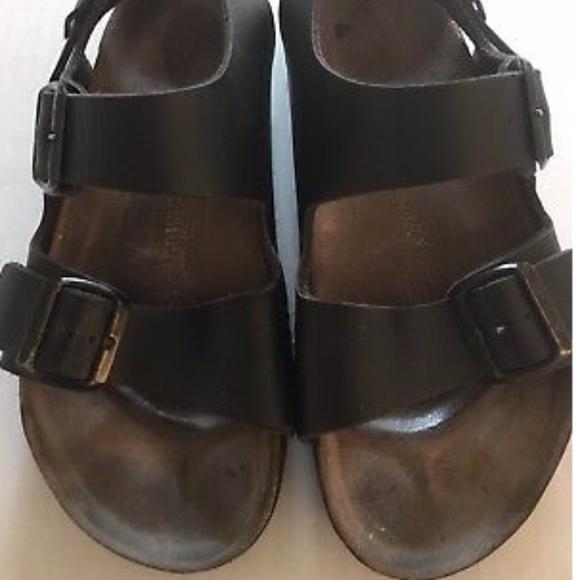 521c4ca646c Birkenstock Shoes - Birkenstock Womens Milano Black Slingback Buckle